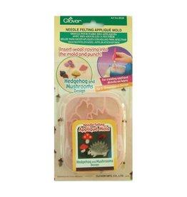 Clover CLOVER 8928 - Applique Mold - Hedghog/Mbrushroom