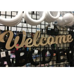 "Morrison Custom CNC Wall Decor ""Welcome"""