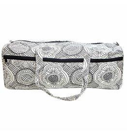 "Vivance VIVACE Knitting Bag - 43 x 15 x 15cm (17"" x 6"" x 6"") - White & Black"