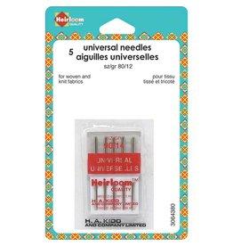 HEIRLOOM HEIRLOOM Machine Universal Needles - Size 80/12