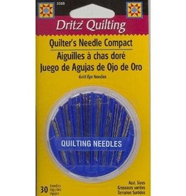 Njefferson Quilter's Needle Compact, 30 Assorted Sizes Needles