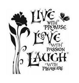Treasuremart Stencil, 6x6, Live Love Laugh