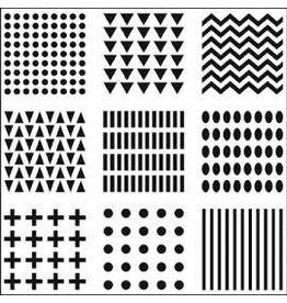 Treasuremart Stencil, 6x6, Patterns