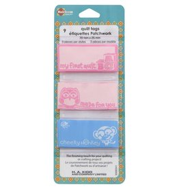Hakidd Quilt Tags - Pink & Blue - 9pcs