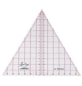 "SEW EASY SEW EASY Triangle Ruler 60° - 12"" x 137/8"" (30.5 x 35.2cm)"