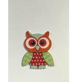 Kathy's Fiber Arts & Crafts Ltd Button Large Owl
