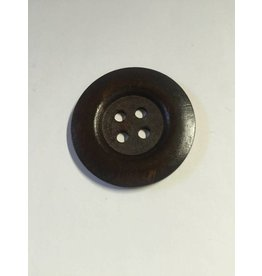 Kathy's Fiber Arts & Crafts Ltd Button 50mm dark Wood 3