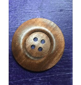 Kathy's Fiber Arts & Crafts Ltd Button 60mm Med Wood