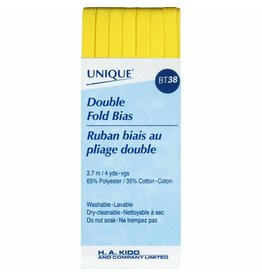 Hakidd UNIQUE Double Fold Bias Tape 6mm x 3.7m - Canary