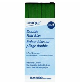 Hakidd UNIQUE Double Fold Bias Tape 6mm x 3.7m - Hunter Green