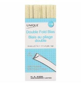 Hakidd UNIQUE Double Fold Bias Tape 6mm x 3.7m - Metallic Gold
