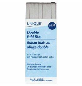 Hakidd UNIQUE Double Fold Bias Tape 6mm x 3.7m - Silver