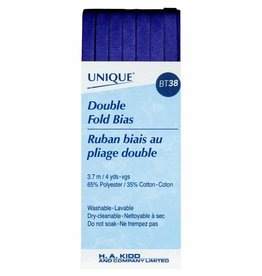 Hakidd UNIQUE Double Fold Bias Tape 6mm x 3.7m - Navy Blue