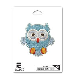 Hakidd Iron On Patch -Aqua Owl - 65mm