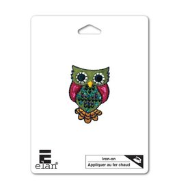 Hakidd Iron On Patch -Folk Owl - 45mm