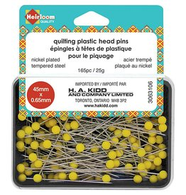 Hakidd HEIRLOOM Quilting Plastic Head Pins - Yellow - 45mmx0.65mm