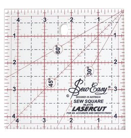 "Hakidd SEW EASY Square Ruler - 4.5""x4.5""  (11.4 x 11.4cm)"