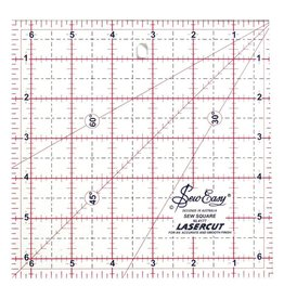 """Hakidd SEW EASY Square Ruler - 6.5"""" x 6.5"""" (16.5 x 16.5cm)"""