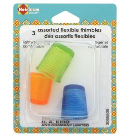 Hakidd HEIRLOOM 3 Assorted Flexible Thimbles