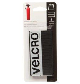 "Hakidd VELCRO Industrial Strength Strips Black - 5 x 10cm (2"" x 4"") - 2 pcs"