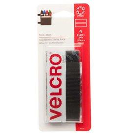Hakidd VELCRO Sticky Back Strips Black - 19mm x 9cm - 4 pcs.