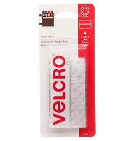 Hakidd VELCRO Sticky Back Strips White - 19mm x 9cm - 4 pcs.