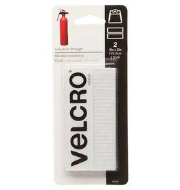 "Hakidd VELCRO Industrial Strength Strips White - 5 x 10cm (2"" x 4"") - 2 pcs."