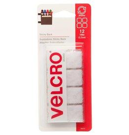 "Hakidd VELCRO Sticky Back Squares White - 22mm (7⁄8"") - 12 pcs."