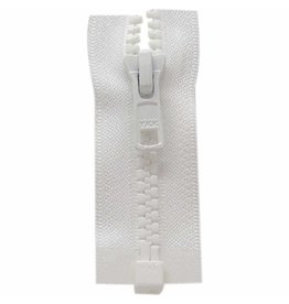 "Hakidd COSTUMAKERS Activewear One Way Separating Zipper 60cm 24""White1764"