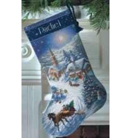 Dimensions Sleigh Ride at Dusk Stocking