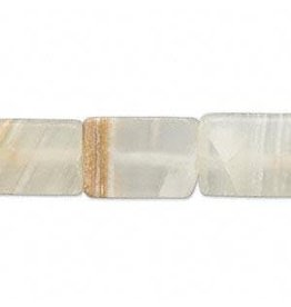 """Firemountain Beads Bead, Italian """"onyx"""" (natural / coated), 16x11mm-18x12mm flat rectangle, C grade, Mohs hardness 3. Sold per 16-inch strand."""