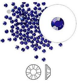 Firemountain Beads Flat back, Swarovski® crystal rhinestone, Crystal Passions®, cobalt, foil back, 2.1-2.3mm Xilion rose (2058), SS7. Sold per pkg of 144 (1 gross).