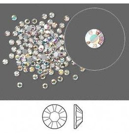 Firemountain Beads Flat back, Swarovski® crystal rhinestone, Crystal Passions®, crystal AB, foil back, 1.7-1.9mm Xilion rose (2058), SS5. Sold per pkg of 144 (1 gross).