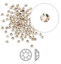 Firemountain Beads Flat back, Swarovski® crystal rhinestone, Crystal Passions®, light Colorado topaz, foil back, 1.7-1.9mm Xilion rose (2058), SS5. Sold per pkg of 144 (1 gross).