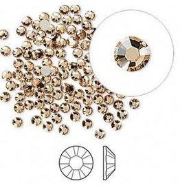 Firemountain Beads Flat back, Swarovski® crystal rhinestone, Crystal Passions®, light Colorado topaz, foil back, 2.5-2.7mm Xilion rose (2058), SS9. Sold per pkg of 144 (1 gross).