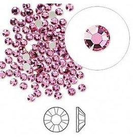 Firemountain Beads Flat back, Swarovski® crystal rhinestone, rose, foil back, 2.5-2.7mm Xilion rose (2058), SS9. Sold per pkg of 144 (1 gross).