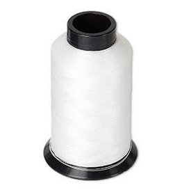 Firemountain Beads Thread, Nymo®, nylon, white, size D. Sold per 3-ounce spool.
