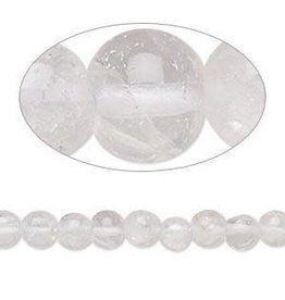 Firemountain Beads Bead, quartz crystal (natural), 5-6mm hand-cut round, C grade, Mohs hardness 7. Sold per 14-inch strand.