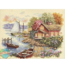 Dimensions Peaceful Lake House Cross Stitch