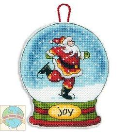 Dimensions Joy Snow Globe Ornament