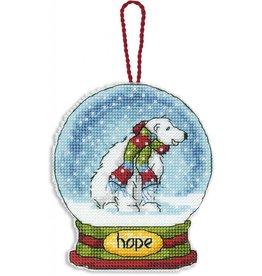 Dimensions Hope Snow Globe Ornament