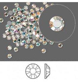 Firemountain Beads Regular Stock Flat back, Swarovski® crystal rhinestone, Crystal Passions®, crystal AB, foil back, 2.5-2.7mm Xilion rose (2058), SS9. Sold per pkg of 144 (1 gross).