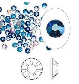 Firemountain Beads Flat back, Swarovski® crystal hotfix rhinestone, Crystal Passions®, Glacier, foil back, 3-3.2mm Xilion rose (2028), SS12. Sold per pkg of 144 (1 gross).