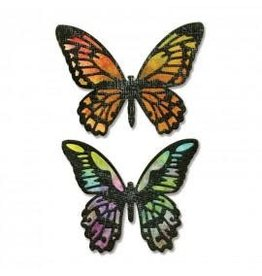 Tim Holtz Thinlits Die Set, Detailed Butterflies 4Pk