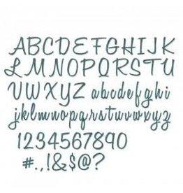 "Tim Holtz Thinlits Die Set, Alphanumeric, Script (1"" Tall) 69Pk"