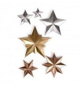 Tim Holtz Thinlits Die Set, Dimensional Stars 6Pk