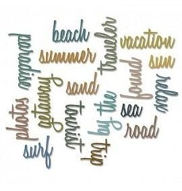 Tim Holtz Thinlits Die Set, Vacation Words: Script 18Pk