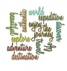 Tim Holtz Thinlits Die Set, Adventure Words: Script 13pk