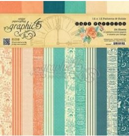 Treasuremart Paper Pad 12X12, Cafe Parisian - Patterns & Solids