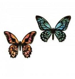 Tim Holtz Thinlits Die Set, Mini Detailed Butterflies 4Pk